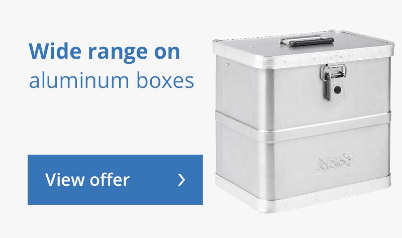 Wide range on Aluminium boxes